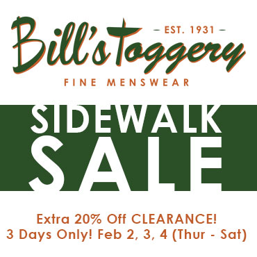 Bill's Sidewalk Sale!