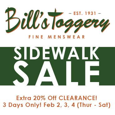 Bill's Sidewalk Sale!