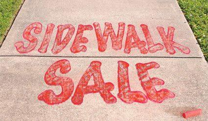 Sidewalk Sale + New Fall ? Merchandise